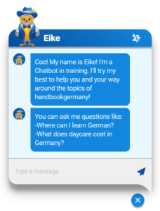 Eike provides direct answers to questions of refugees. It is now included as a service on handbookgermany.de